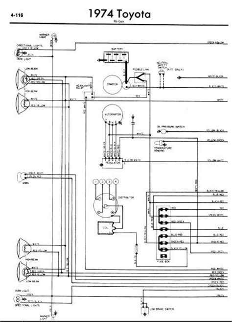 2011 Toyotum Wiring Diagram by Repair Manuals Toyota Hilux 1974 Wiring Diagram