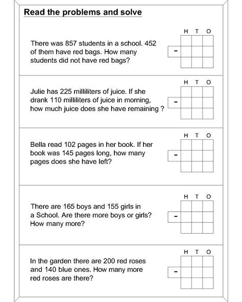 subtraction word problem worksheet smart receive ccss