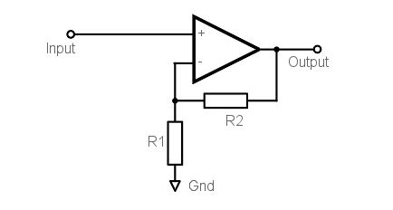 Non Inverting Operational Amplifier Circuit Amp