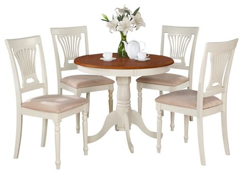 Anpl-whi Kitchen Table Set-traditional-dining Sets