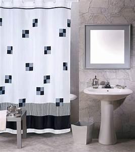 Duschvorhang Schwarz Weiß : msv duschvorhang schwarz auf weiss breite 180 cm online kaufen otto ~ Yasmunasinghe.com Haus und Dekorationen
