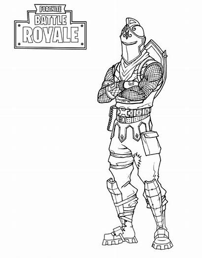 Fortnite Coloring Pages Battle Royale Knight Pass