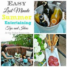 Easy Summer Entertaining Ideas And Giveaway!  At The