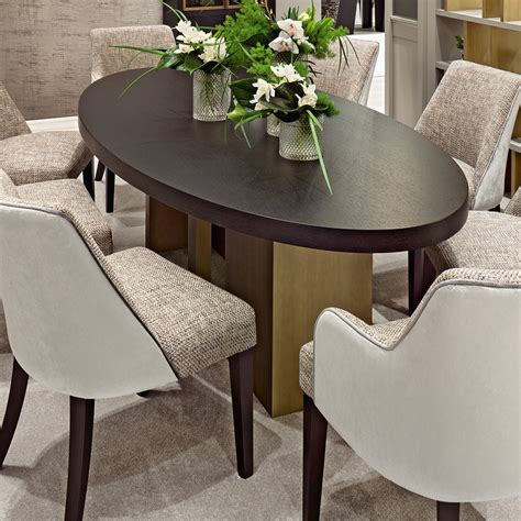 Italian High End Contemporary Oval Dining Table