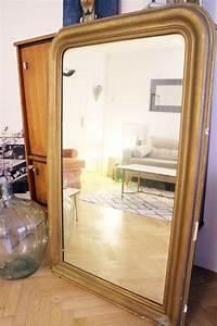 Grand Miroir Vintage : grand miroir dor vintage hausmannien louis philippe luckyfind ~ Teatrodelosmanantiales.com Idées de Décoration