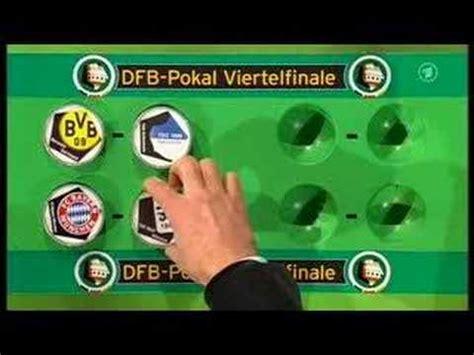 Borussia dortmund, rb leipzig, bayern münchen. DFB Pokal Auslosung Viertelfinale 07/08 - YouTube