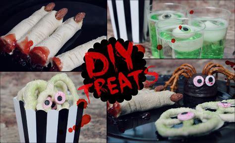 diy treat ideas diy halloween snack ideas no cook quick easy youtube