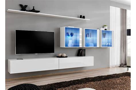 chambre à coucher complète meuble tv mural design à led bleu trendymobilier com