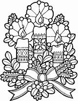 Candles Christmas Coloring Pages Printable Colouring Sheets Printables Holiday Xmas Coloriage Noel Tree sketch template