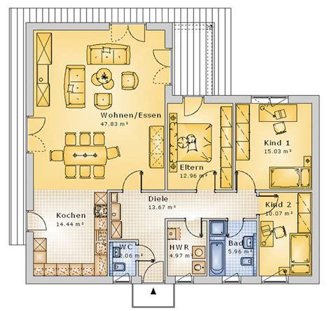 Grundriss Offene Küche by Grundriss Bungalow 4 Zimmer Offene K 252 Che
