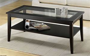 Coffee table wood glass coffee tables round and square for Glass inlay coffee table