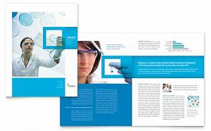 Science chemistry brochure template design for Science brochure templates