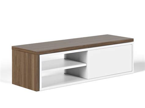 meuble bas cuisine porte coulissante meuble tv bas extensible en bois niches et porte
