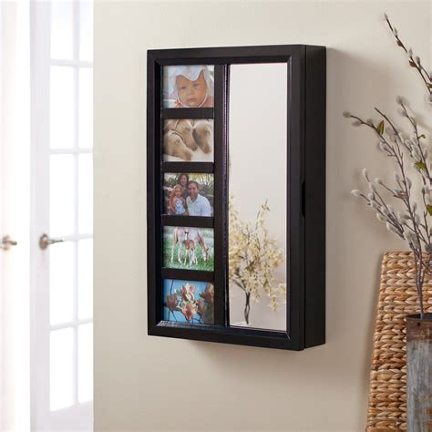wall mounted jewelry cabinet photo frames wall mount jewelry armoire mirror high