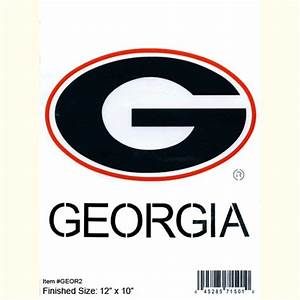 "UGA Large G logo Stencil (12X10"") How 'Bout Them DAWGS"