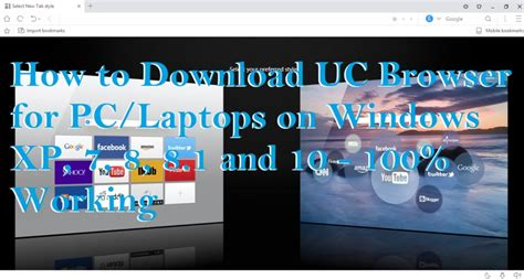 Uc browser v6.1.2909.1213 free download. How to Download UC Browser for PC/Laptops on Windows XP, 7, 8, 8.1 and 10 - 100% Working