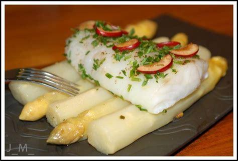 cuisine norvegienne asperges des landes pour changer et cabillaud cuit à