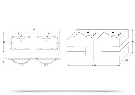 mobile bagno lavandino arredo bagno energy 120 cm marrone con inserti bianchi