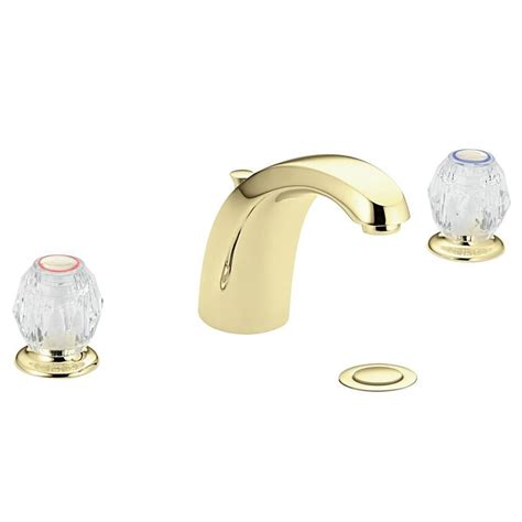 Moen Chateau Bathroom Faucet by Shop Moen Chateau Polished Brass 2 Handle Widespread