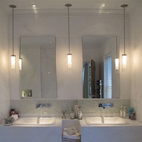 high  bathroom pendants  hung  sink