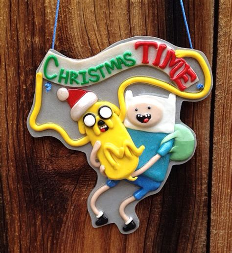 adventure time christmas time ornament by artpharts on etsy