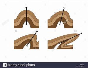 Diagrams Of Geological Folds Stock Photo  106683341