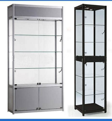 jewelry glass wood display cabinets customized with led light