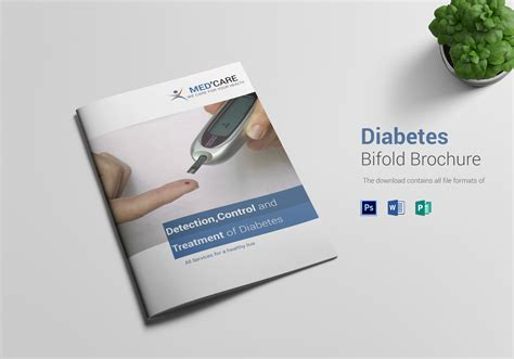 Bi Fold Brochure Templates Free Diabetes Bi Fold Brochure Design Template In Word Psd