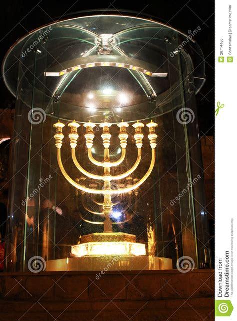 candle lighting jerusalem menorah jerusalem royalty free stock image image 26714466
