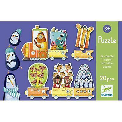 djeco preschool counting train puzzle  pieces
