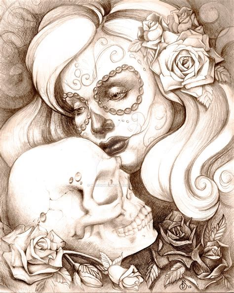Day Of The Dead Wallpaper Day Of The Dead With Skull By Mystiqueink On Deviantart