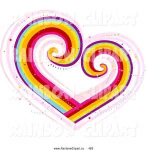 Colorful Heart Swirl Designs Clip Art