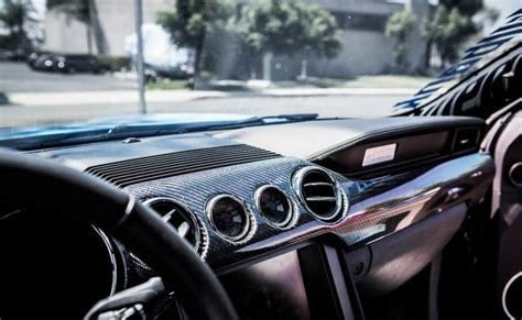 mustang carbon fiber lg dual gauge dash kit