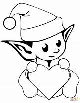 Elf Coloring Pages Christmas Simple Colorings Clipartmag sketch template