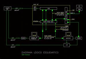Lesquema Cableamiento Structured Dwg Block For Autocad