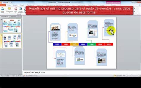 Como Trabajr Con Template En La Compu by L 237 Nea De Tiempo Con Powerpoint Youtube