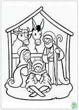 Coloring Nativity Manger Scene Jesus Dinokids Colouring Sheet Printable Natale Scenes Printables Close Visita Creche Simple Popular Disegni sketch template