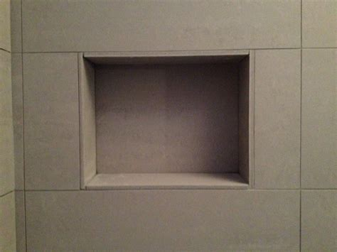 how to tile recessed shelves home decorations