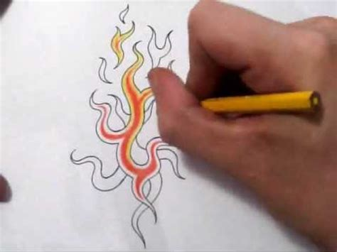 fire tattoos drawing cool abstract tribal flames design