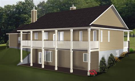 house plans  walkout basement craftsman house plans  walkout basement bungalows plans
