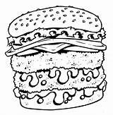 Coloring Cheeseburger Tattoo Pages Cartoon Shirt Printable Designs Junk Bad Getcolorings Sheet sketch template