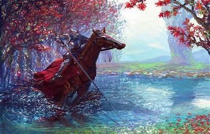 Horse Knight Warrior 5k Sword Digital Armor