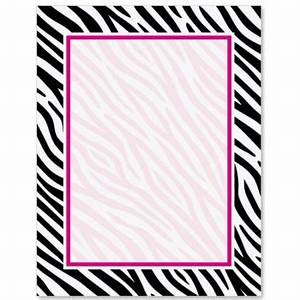 Zebra Print PaperFrames Border Papers | PaperDirect ...