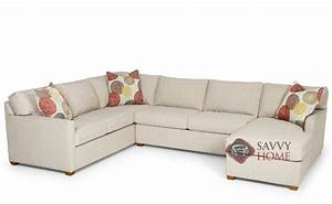 The 287 u shape true sectional queen sleeper sofa by for U shaped sectional sofa for sale
