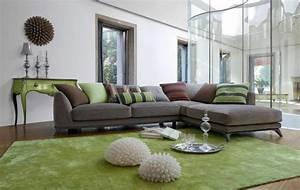 le canape composable modeles contemporains archzinefr With tapis de yoga avec canape vert emeraude