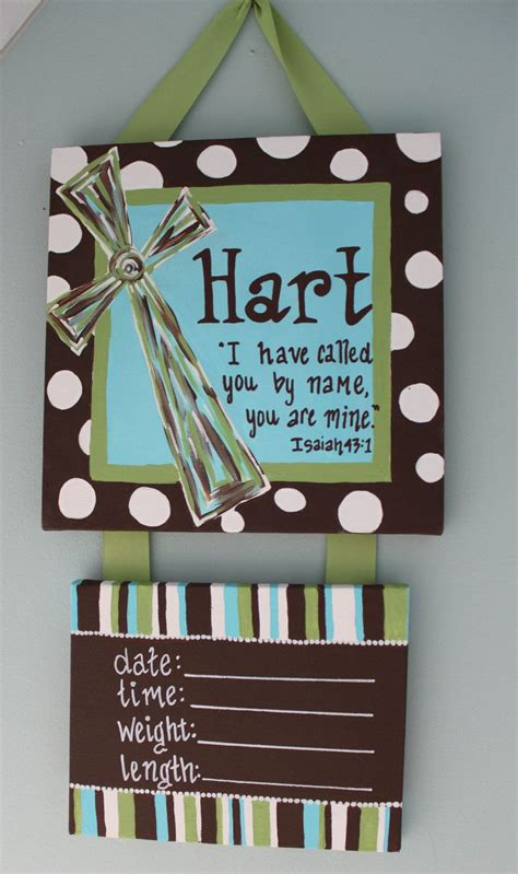 baby door hanger scripture cross personalized hospital door hanger for