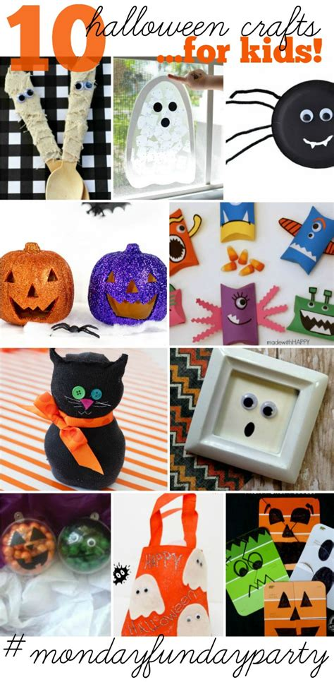 Halloween Crafts For Kids And Monday Funday!  All Things