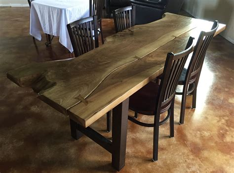 custom slab wood dining table  branches furniture