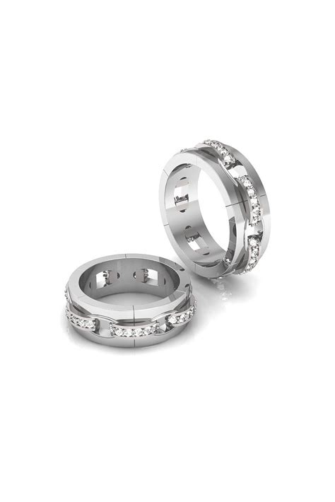 wedding ring chain remarkable chain shaped wedding ring with diamonds
