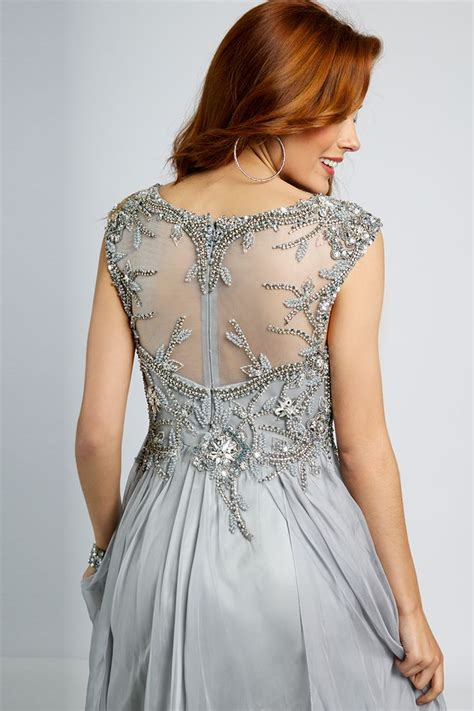 Silver Empire Waist Dress 93548 - Prom Dresses | Prom ...